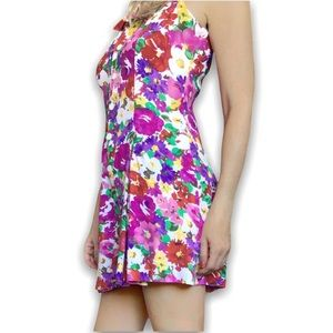 90s Express Romper, Small, Bright Floral